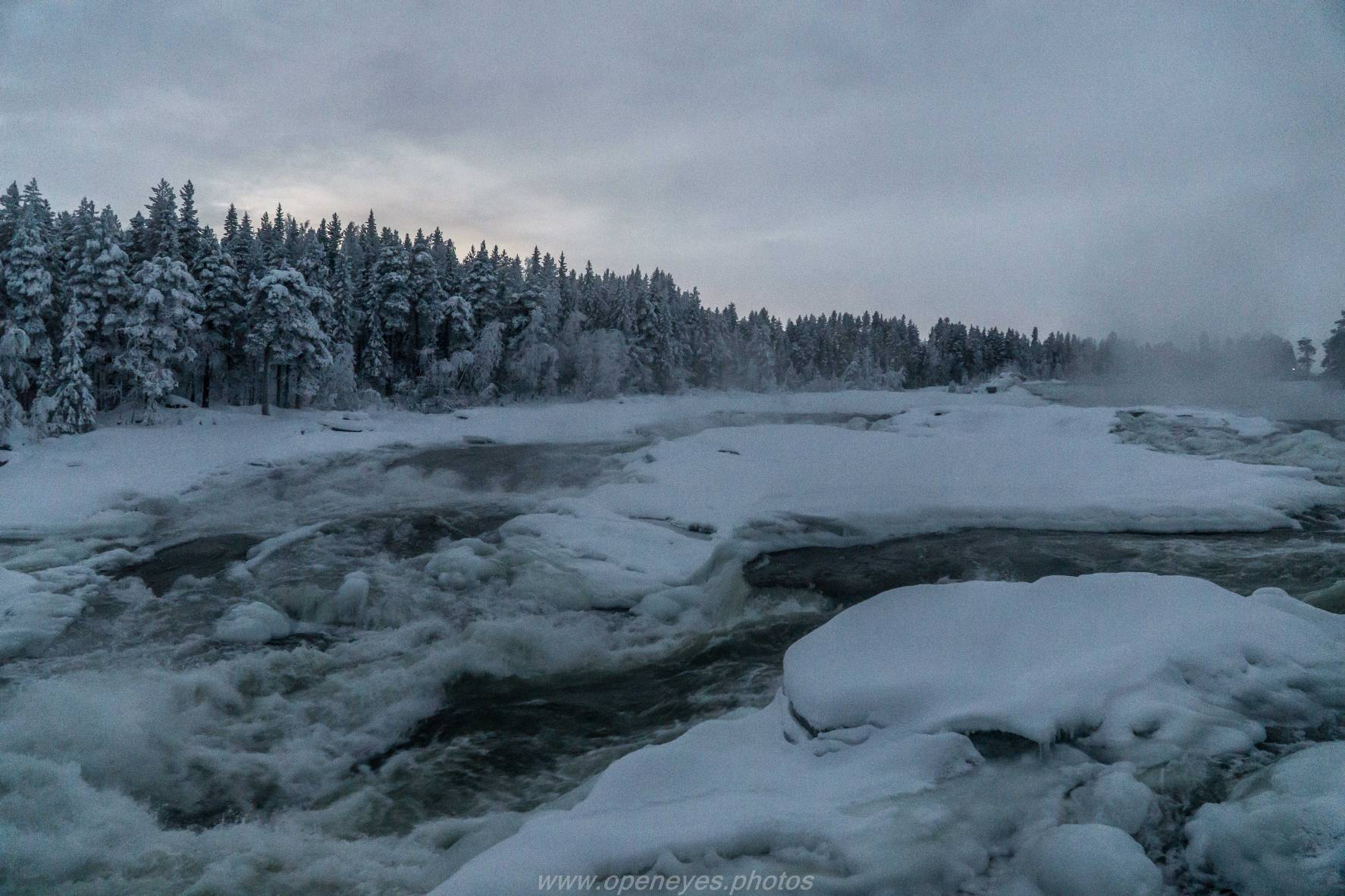 Storforsen Vidsel Norbotten Winter 8383